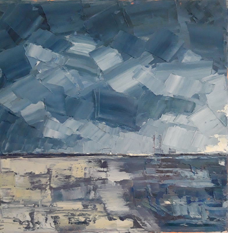 Clouds Lifting, Sandymount 30x30cm Contact for Details